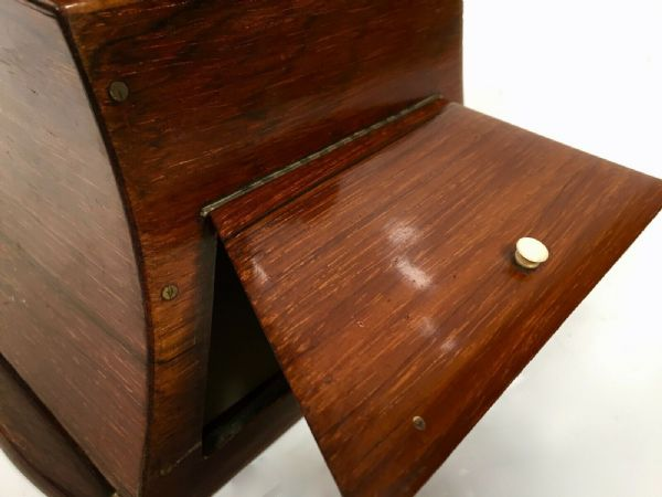 Antique Wooden Stereo Viewer / Stereoscope / Rosewood And Brass / 19th Century